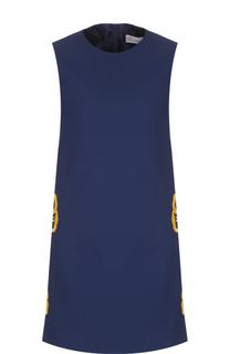 Мини-платье с контрастной отделкой REDVALENTINO