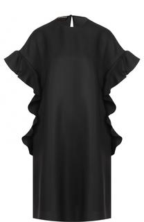 Мини-платье свободного кроя с оборками Rochas
