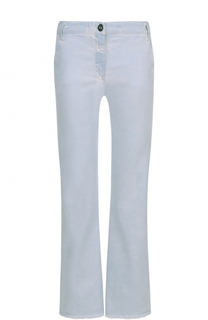 Укороченные расклешенные джинсы с потертостями Dorothee Schumacher