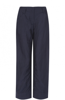 Льняные брюки прямого кроя с карманами Giorgio Armani