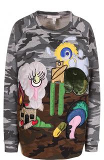 Свитшот с камуфляжным принтом и контрастной отделкой Marc Jacobs