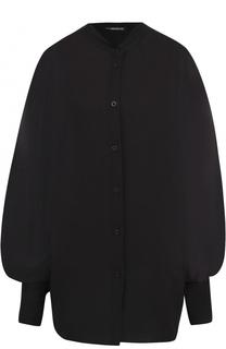 Хлопковая блуза с прозрачной вставкой на спинке Ann Demeulemeester