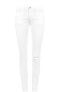 Укороченные джинсы-скинни с потертостями Armani Jeans