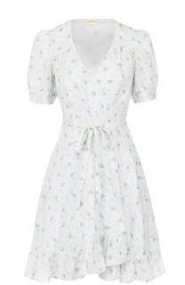 Мини-платье с запахом и цветочным принтом Denim&Supply by Ralph Lauren