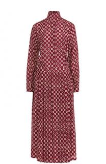 Приталенное платье-миди с воротником аскот Stella Jean