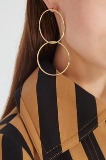 Золотистые серьги Hoop Lisa Smith