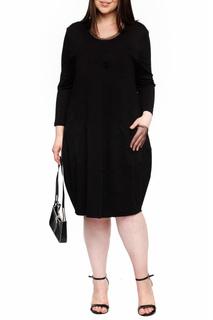 Классическое платье свободного покроя Leshar