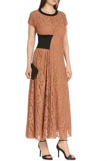 Ажурное платье с  контрастными вставками Max Mara