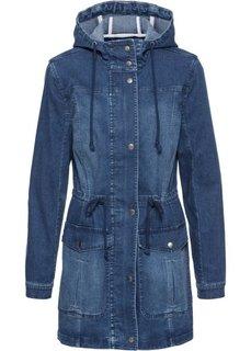 Короткая джинсовая парка (синий) Bonprix