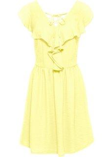 Платье с воланом (нежно-лимонный) Bonprix