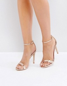 Розовато-золотистые босоножки на каблуке Steve Madden Stecy - Золотой