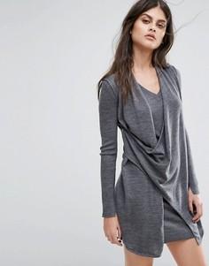 Платье с V-образным вырезом AllSaints Drina - Серый