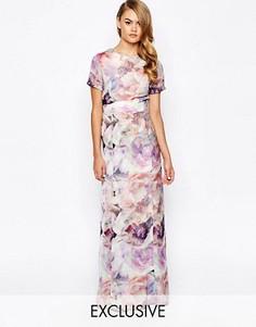 Платье макси с цветочным принтом True Violet - Мульти