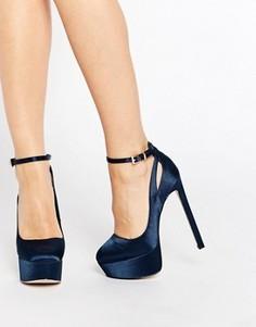 Туфли на платформе ASOS PRESTIGE - Темно-синий