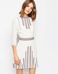 Приталенное платье с вышивкой ASOS Premium - Мульти
