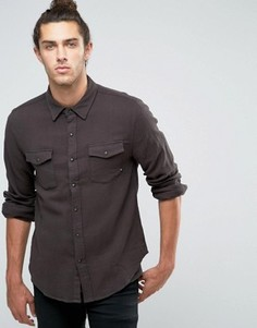 Фланелевая рубашка классического кроя Brixton - Черный