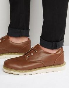 Светло-коричневые кожаные оксфордские туфли D-Struct - Рыжий Bellfield