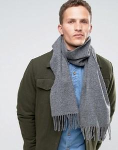 Серый шарф из овечьей шерсти Glen Lossie - Серый
