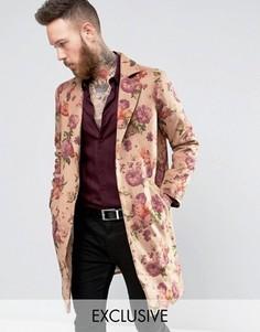 Пальто с цветочным принтом Reclaimed - Stone