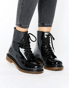 Резиновые ботинки на шнуровке Park Lane - Черный