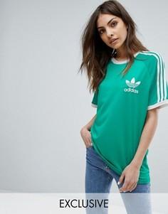 Зеленая футболка adidas Originals - Зеленый