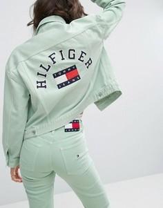 Спортивная куртка в стиле 90-х Tommy Jeans - Зеленый