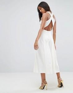 Комбинезон с плиссированной юбкой-брюками ASOS - Белый