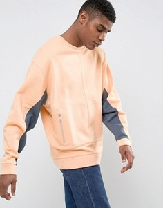 Оранжевый oversize‑свитшот с контрастными вставками ASOS - Оранжевый