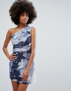 Платье-туника с принтом розы Religion - Черный