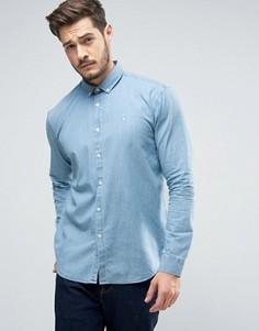 Рубашка классического кроя из шамбре Jack Wills Faulkner - Синий