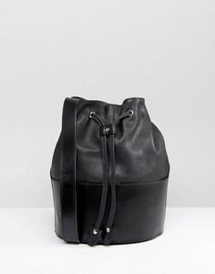 Кожаная сумка-мешок Park Lane - Черный
