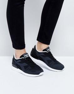 Черные плетеные кроссовки Diadora Titan - Черный