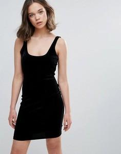 Бархатное облегающее платье Glamorous - Черный
