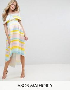 Платье в полоску ASOS Maternity - Мульти
