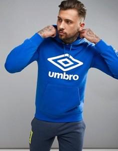Худи синего цвета с крупным логотипом Umbro - Синий