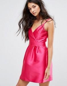 Платье для выпускного с запахом Miss Selfridge - Розовый