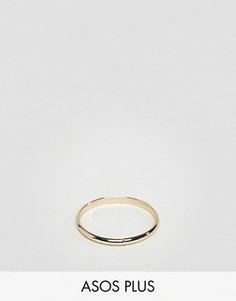 Золотистое кольцо ASOS PLUS - Золотой