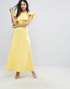 Платье макси с оборками Club L - Желтый