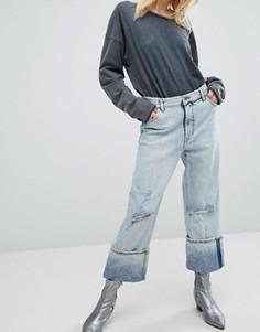 Свободные джинсы с отворотами Cheap Monday - Синий