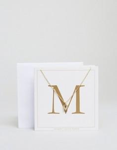 Ожерелье c буквой M Johnny Loves Rosie - Золотой