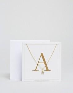 Ожерелье c буквой А Johnny Loves Rosie - Золотой