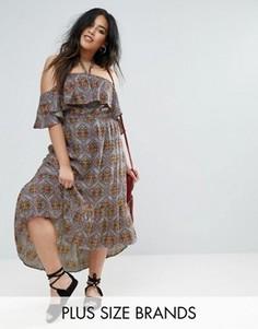 Платье макси с оборкой Diya - Мульти