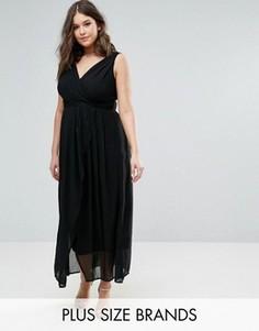 Платье макси с V-образным вырезом Praslin - Черный