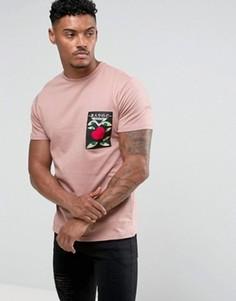 Футболка Friend or Faux - Розовый