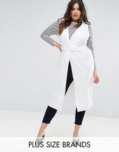 Легкое пальто без рукавов Boohoo Plus - Белый