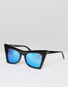 Солнцезащитные очки с зеркальными стеклами Wildfox - Черный