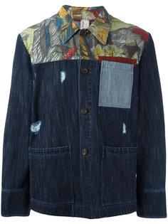 джинсовая куртка с принтом Antonio Marras