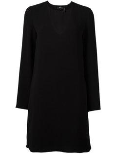 платье с глубоким V-образным вырезом Theory