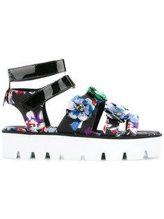 сандалии с цветочным принтом MSGM