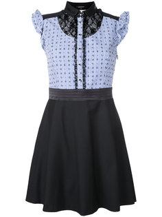 полосатое платье с кружевной вставкой Loveless